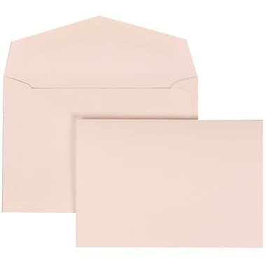 JAM Paper® Wedding Invitation Set, Small, 3 3/8 x 4 3/4, White with White Envelopes and Pink and White Bow, 100/pack (307724906)