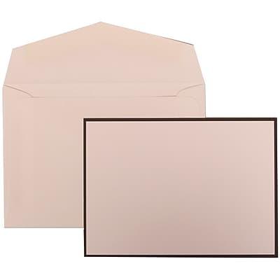 JAM Paper® Wedding Invitation Set, Small, 3 3/8 x 4 3/4, White with White Envelopes and Black Border, 100/pack (306924826)