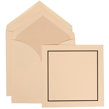 JAM Paper® Wedding Invitation Set, Large Square, 6.25 x 6.25, Ivory with Crystal Lined Envelopes, 50/pack (310425106)