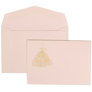 JAM Paper® Wedding Invitation Set, Small, 3 3/8 x 4 3/4, Yellow Princess Card with White Envelopes, 100/pack (311725198)
