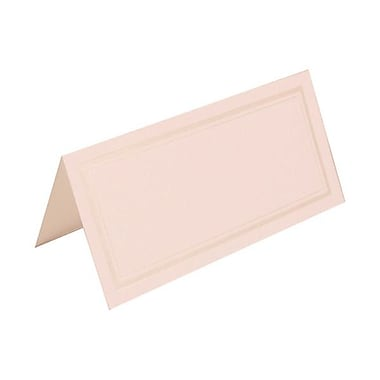 JAM Paper® Foldover Placecards, 2 x 4.25, White with Double Ivory Border place cards, 100/pack (312125231)