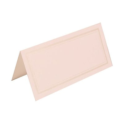 JAM Paper® Foldover Placecards, 2 x 4.25, White with Embossed Flower place cards, 100/pack (312125234)