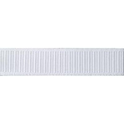 """""Non-Roll Ribbed Elastic 1-1/4"""""""" Wide 30 Yards-White"""""" 459717"