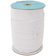 "Non-Roll Ribbed Elastic 1-1/2"" Wide, White"
