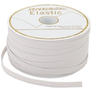 "Singer® Braided Elastic 3/8"" Wide, White"