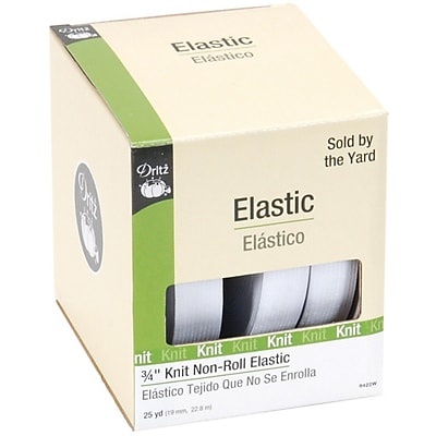 """""Knit Non-Roll Elastic 3/4""""""""X25 Yards, White"""""" 459859"