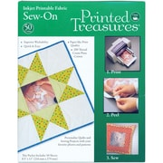 "Dritz® Printed Treasures Sew-On Ink Jet Fabric Sheets, 8-1/2"" x 11"", White Bulk"