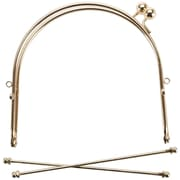 "Metal Purse Frame w/Ball Clasp & Loops 6""-Gold"