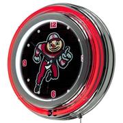 Ohio OSU1400-WM Resin Analog Wall Clock, Red/Silver