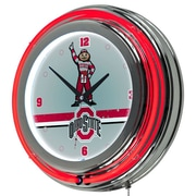 Ohio State Stripe Padded Bar Clock