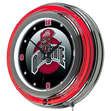 Ohio State Rushing Brutus Neon Clock
