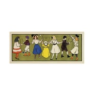 "Trademark Fine Art 'Children's Panel - Girls' 20"" x 47"" Canvas Art"