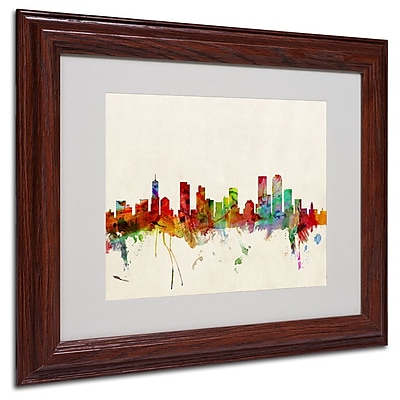 "Trademark Fine Art 'Denver, Colorado' 11"" x 14"" Wood Frame Art"