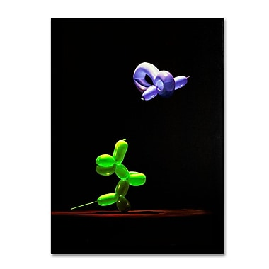 Trademark Fine Art 'Balloon Puppy and Hummingbird'