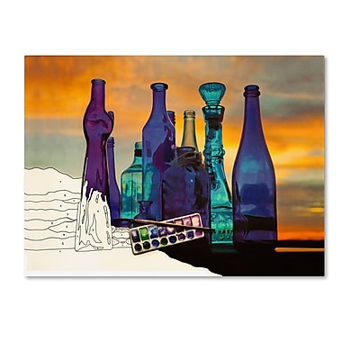 Trademark Fine Art 'Blue Sunset By Numbers'