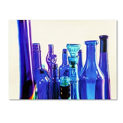 Trademark Fine Art 'Blue Bottle Tops' 14