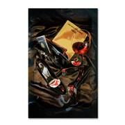 "Trademark Fine Art 19"" x 12"" Wooden Frame Gallery Wrapped Canvas Art"