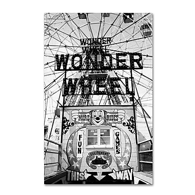 Trademark Fine Art 'Coney Island Wonder Wheel This Way' 22