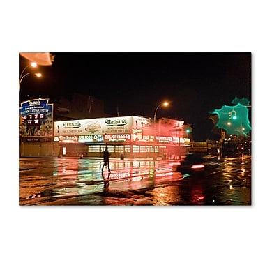 Trademark Fine Art 'Nathan's Women Crossing Street Neon' 22