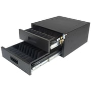 CBM™ A08099 Double High-Capacity Heavy Gauge Steel Cash Drawer, Black
