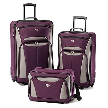 American Tourister® Fieldbrook II 56445 3-Piece Luggage Set, Purple/Gray