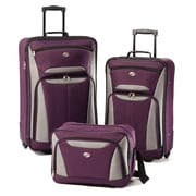 American Tourister® Fieldbrook II 56445 3-Piece Luggage Set, Purple/Gray
