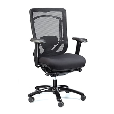 Eurotech Seating MFSY77 Monterey Fabric Executive Chair with Adjustable Arms, Black