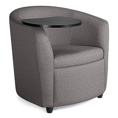 Global Sierna Reception Club Chair With Black Tablet Work Surface, Steamboat