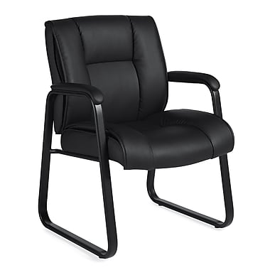 Offices To Go Ashmount Bonded Leather Guest Chair Black