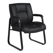 Offices To Go® Ashmount Bonded leather Guest Chair, Black