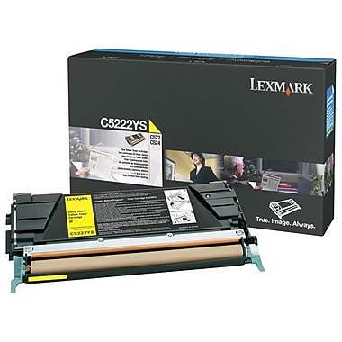 Lexmark – Cartouche de toner jaune C522/524(C5222YS), Standard