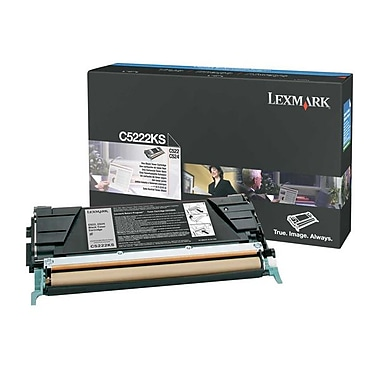 Lexmark C522/524 Black Toner Cartridge (C5222KS), Standard (C5222KS)