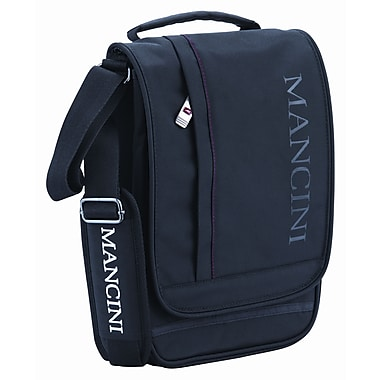 Mancini Unisex Tablet/E-Reader Messenger Bag With RFID Secure Pocket, Black