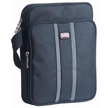 Mancini - Mallette unisexe pour ordi portatif/tablette, avec poche sécurisée RFID, 10,1 po, noir