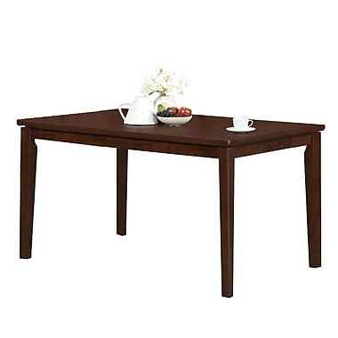 Monarch – Table repas de 36 po x 60 po, placage chêne antique