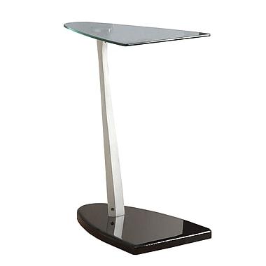 Monarch – Table d'appoint avec verre trempé, noir / argenté