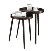 Monarch 2-Piece Nesting Table Set With Large Table, Cappuccino