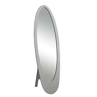 Monarch Contemporary Oval Cheval Mirror, Grey