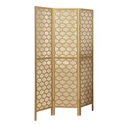 "Monarch Gold Frame 3 Panel ""Lantern Design"" Folding Screen"