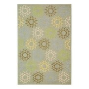 Martha Stewart Rugs Floral Block Quilt Opal Grey Rug; Rectangle 7'9'' x 9'9''
