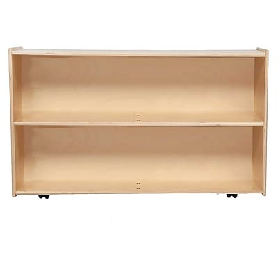 "Wood Designs™ Contender™ 28 3/4""H Fully Assembled Shelf Storage With Casters, Birch"