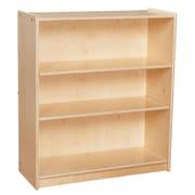 "Wood Designs™ Contender™ 33 7/8""(H) Adjustable Plywood Bookshelf, Birch"