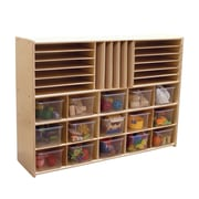 Wood Designs™ Contender™ Multi-Storage With 15 Translucent Trays, Baltic Birch