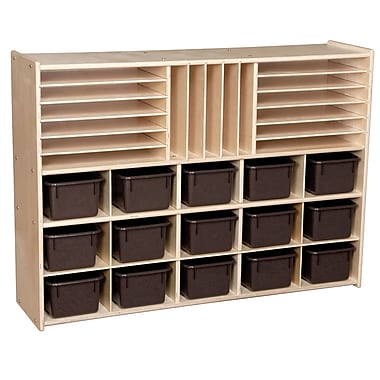 Wood Designs™ Contender™ Fully Assembled Multi-Storage With 15 Chocolate Trays, Birch