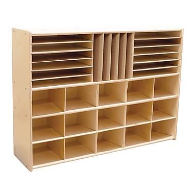 Wood Designs™ Contender™ Fully Assembled Multi-Storage Without Trays, Baltic Birch