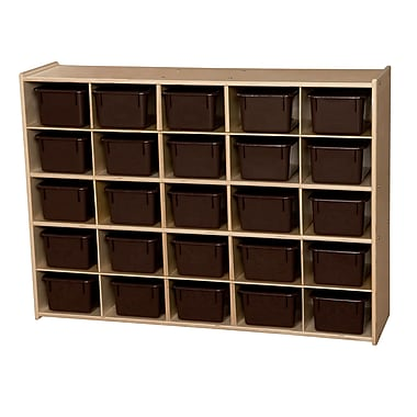Wood Designs™ Contender™ 25 Tray Storage With Chocolate Trays, Baltic Birch