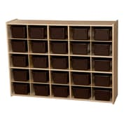 Wood Designs™ Contender™ Fully Assembled 25 Tray Storage With Chocolate Trays, Baltic Birch