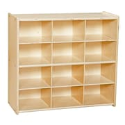 "Wood Designs™ Contender™ 27 1/4""H Fully Assembled 12 Cubby Storage Unit Without Tubs, Baltic Birch"