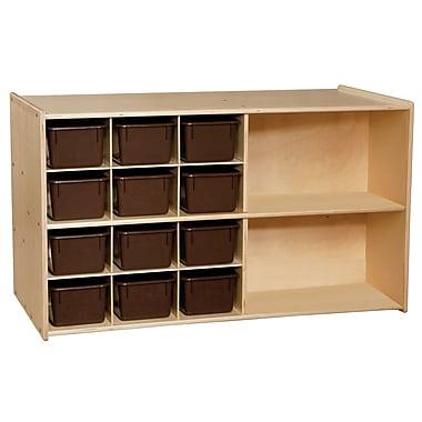 Wood Designs™ Contender™ Fully Assembled Double Mobile Storage With 25 Chocolate Trays, Birch