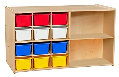 Wood Designs Contender Double Mobile Storage With 25 Assorted Trays, Birch 506758